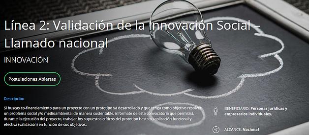 Corfo lanza concurso nacional de innovación social