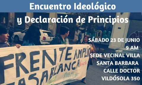 Frente Amplio Casablanca realizará su Primer Encuentro Ideológico este sábado 23 de junio
