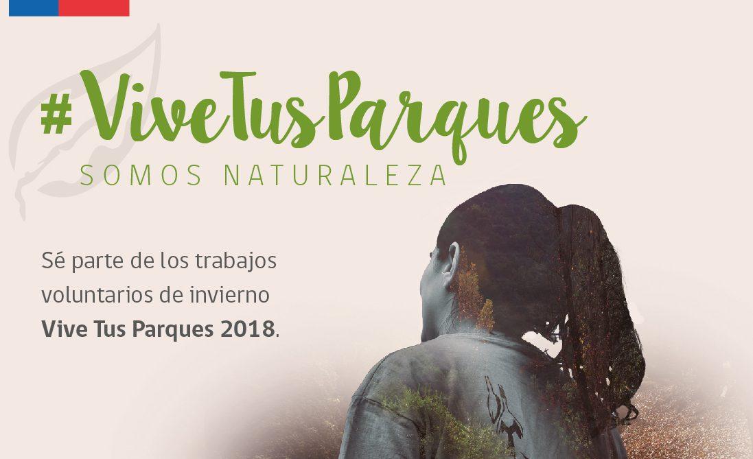 INJUV Valparaíso y CONAF te invitan a participar de una nueva versión de los trabajos voluntarios de invierno Vive Tus Parques 2018