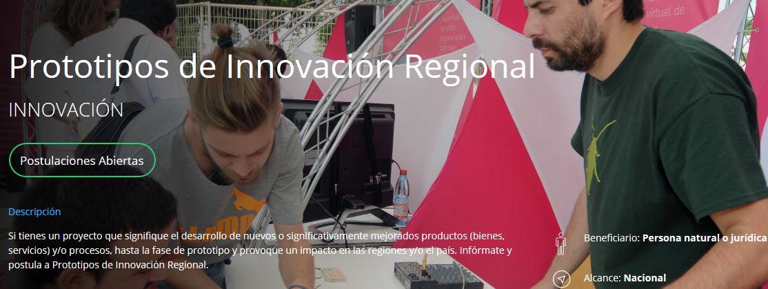 Faltan 10 días para el cierre del concurso Prototipo de Innovación Regional de Corfo