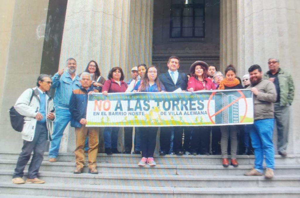 Junta de Vecinos de Villa Alemana presentó recurso de protección por construcción de edificios