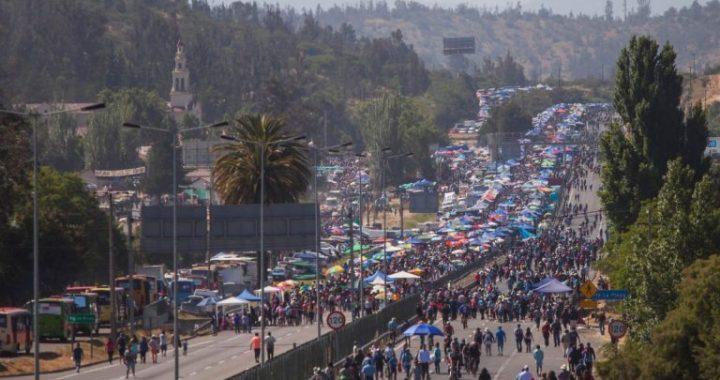 Llaman a la responsabilidad personal de los peregrinos a Lo Vásquez para evitar víctimas viales