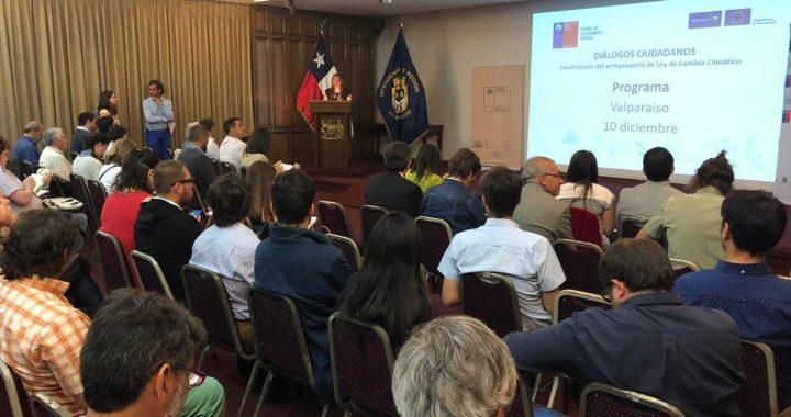 En Valparaíso realizan diálogo ciudadano para la elaboración del anteproyecto de Ley Marco de Cambio Climático