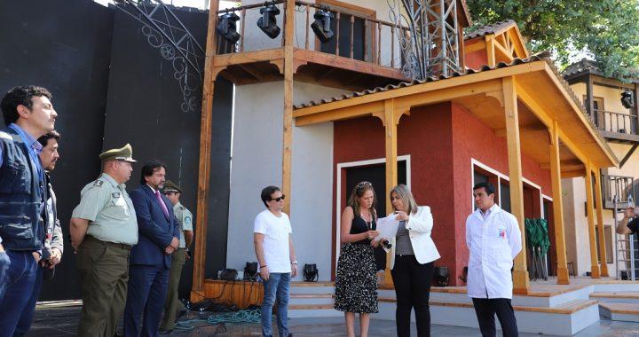 """Inspeccionan """"El Patagual"""" a dos días de que comience el Festival del Huaso de Olmué"""