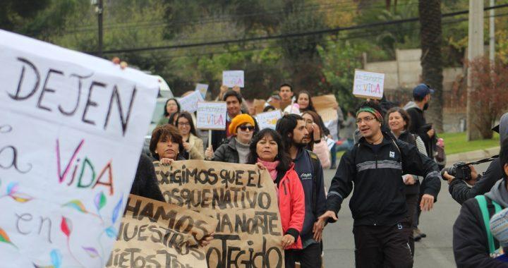 Quilpué: Vecinos de Paso Hondo se manifestaron en contra de inmobiliarias