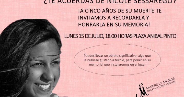 Observatorio de Mujeres y Medios convoca al acto «5 años sin Nicole (Sessarego)»