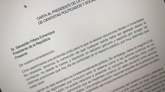 Carta al Presidente de la República por parte de cientistas políticas/os y sociales