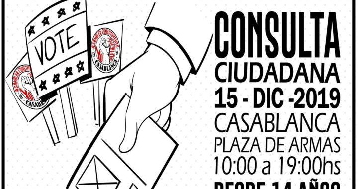 Casablanca tendrá Consulta Ciudadana el 15 de diciembre