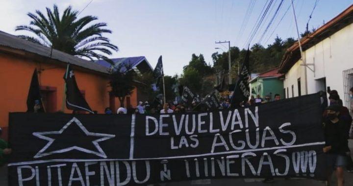 Putaendo se manifiesta contra minera Andes Cooper y son reprimidos por la fuerza policial