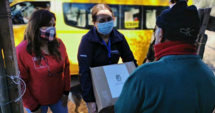 Quintero, Puchuncaví y Casablanca ya tienen sus primeras 1.500 cajas del plan Alimentos para Chile