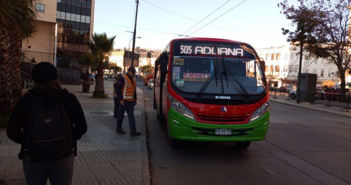 MTT informa que habrá servicios de buses en Valparaíso y Viña durante cuarentena