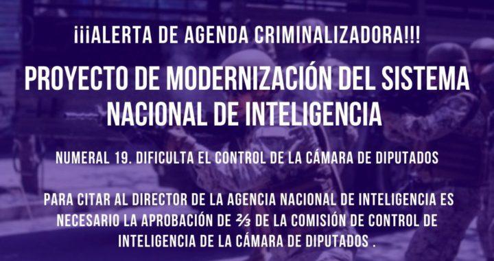 Declaración Pública de organizaciones sociales ante proyecto de modernización del Sistema Nacional de Inteligencia