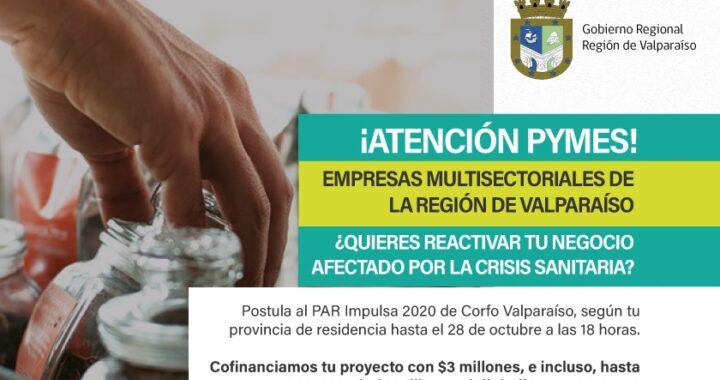Corfo amplía plazo de postulación al programa PAR IMPULSA
